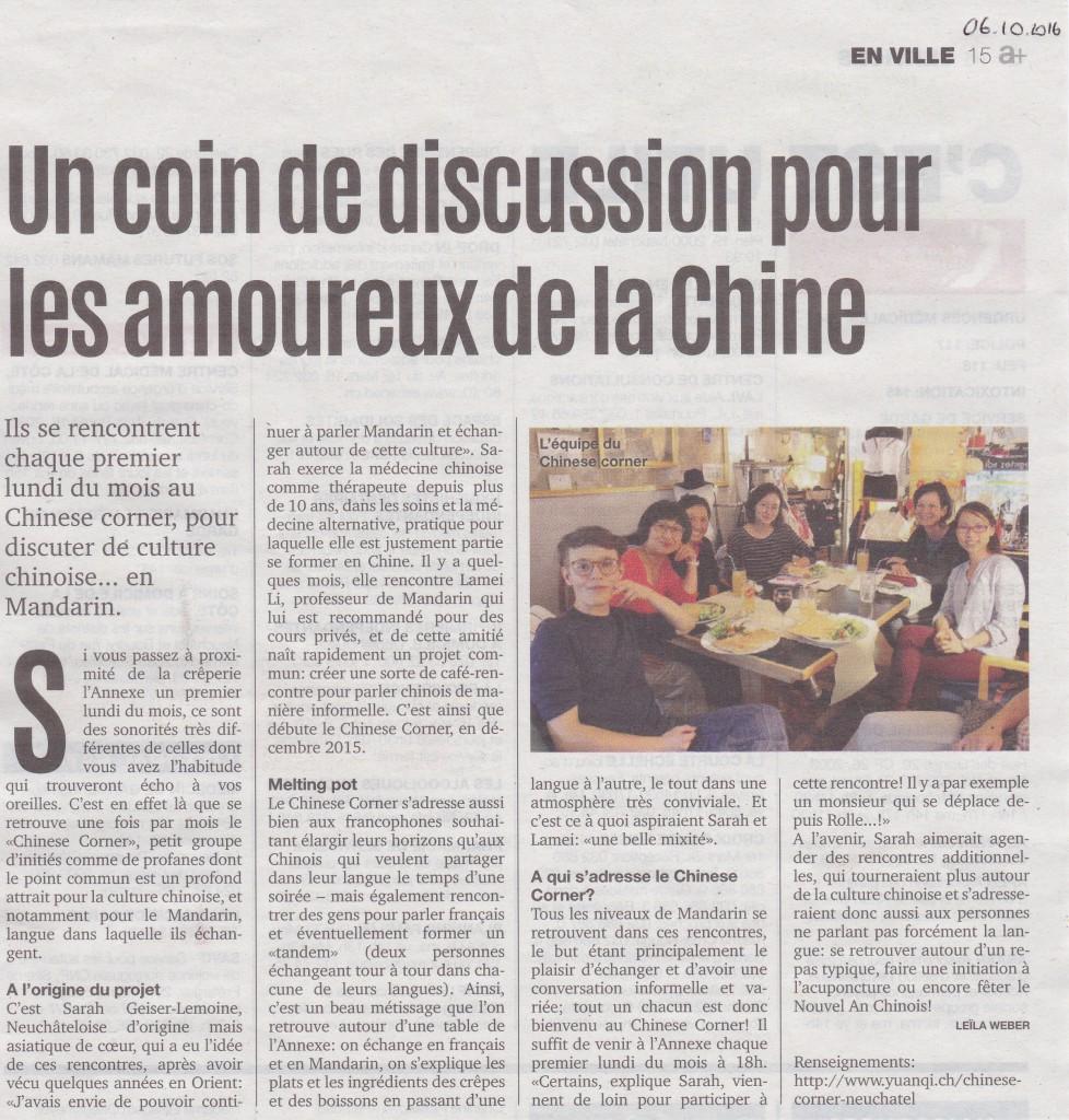 Article publié dans le Magazine A+ Neuchâtel, le 6 octobre dernier.